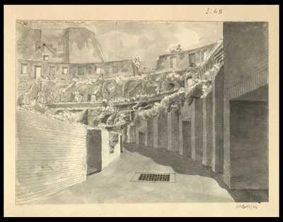 [Veduta interna del Colosseo]