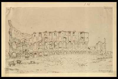 [Veduta esterna del Colosseo] / F. Caracciolo f