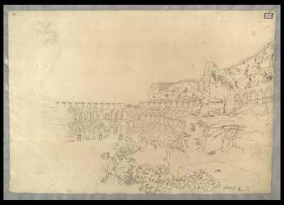 [Veduta parziale dell'interno del Colosseo] / [Giovanni Paolo Pannini]