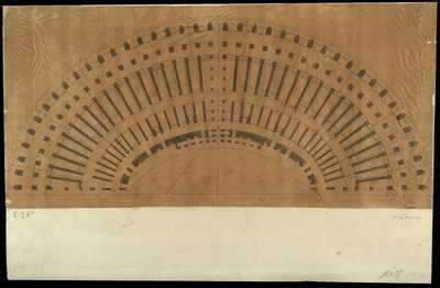 [Colosseo : pianta di una metà del monumento] / [Antonio De Romanis]