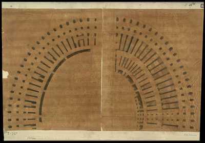 [Colosseo pianta di due settori del piano terreno] / [Antonio de Romanis]