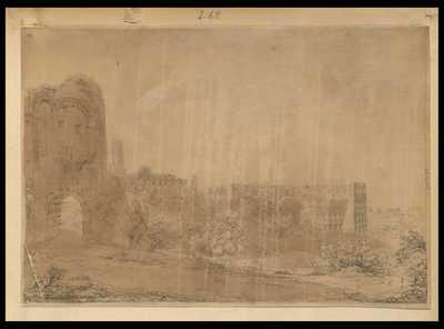 [Veduta esterna delle rovine del Colosseo]