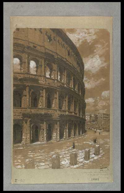 [Veduta del Colosseo] / [Francesco Paolo Michetti]