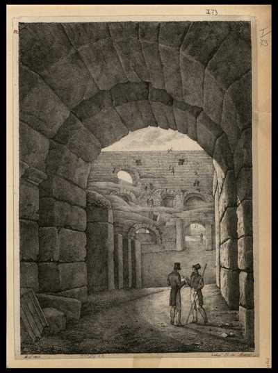 [Veduta delle rovine Colosseo]