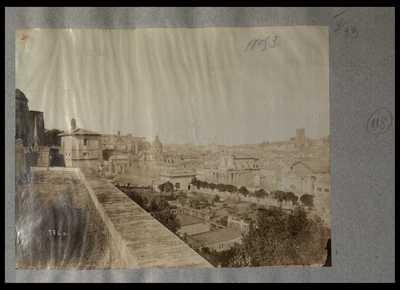 [Panorama di Roma con veduta parziale dell'area centrale del Foro Romano]