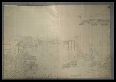Foro Romano col prospetto del Colosseo