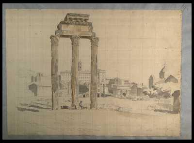 [Il Tempio dei Castori o dei Dioscuri nel foro Romano] / F. Caracciolo f