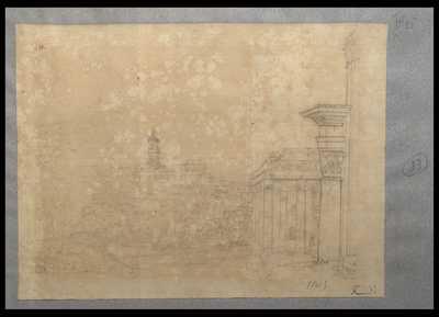 [Veduta del Foro Romano con il tempio di Antonino e Faustina]
