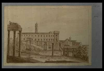 [Veduta del Foro Romano con templi e monumenti]