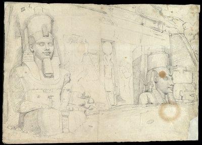 Facciata del Tempio di Ramses II a Abu Simbel, da una prospettiva diversa