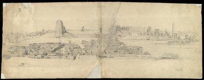 Panorama del tempio di Amon-Ra a Karnak da sud