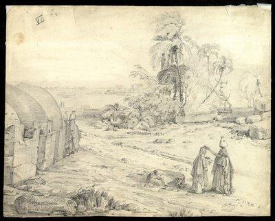 Donne di Gurna nell'area del villaggo antico