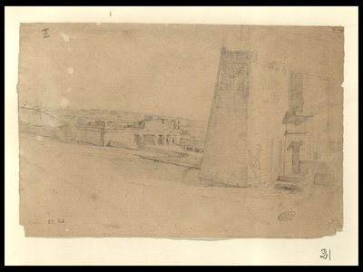 Tempio di Horus a Edfu, primo pilone , 27 febbr [1829]