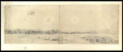 Panorama della riva occidentale tebana con il villaggio antico di Gurna