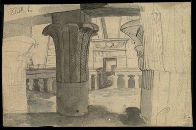 Tempio di Horus ad Edfu, il Pilone dal cortile interno