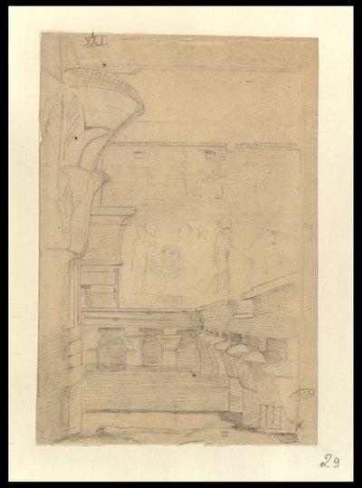 Edfu, Pilone e colonnato visti dall'interno