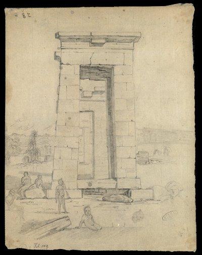 Tempio di Debod ad Assuan , Feb. 1829