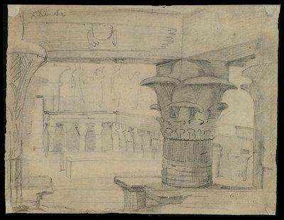 Il cortile interno con il colonnato del tempio di File