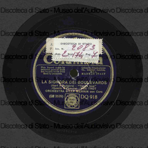 La signora dei boulevards / Orch. B. Merrin. Moulin rouge / L. Brennan ; Orch. Winter Garden ; Reginaldo Dixon, organo