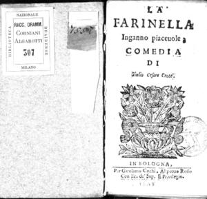 La Farinella inganno piaceuole; comedia di Giulio Cesare Croce