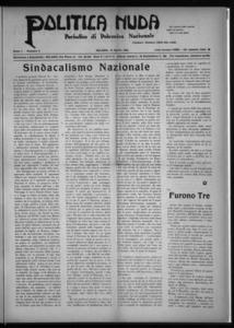Politica nuda : periodico di polemica nazionale (1925:A. 1, apr., 15, fasc. 8)