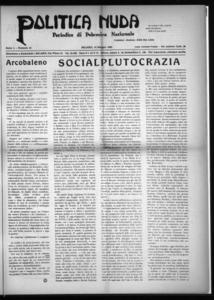 Politica nuda : periodico di polemica nazionale (1925:A. 1, mag., 15, fasc. 10)