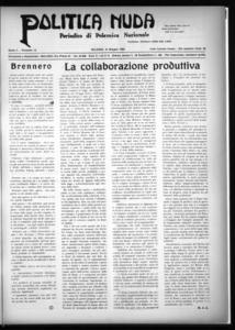Politica nuda : periodico di polemica nazionale (1925:A. 1, giu., 15, fasc. 12)
