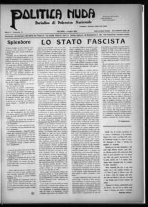 Politica nuda : periodico di polemica nazionale (1925:A. 1, lug., 1, fasc. 13)