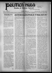 Politica nuda : periodico di polemica nazionale (1925:A. 1, ago., 1, fasc. 15)