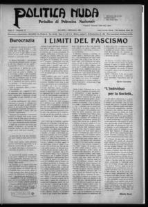 Politica nuda : periodico di polemica nazionale (1925:A. 1, set., 1, fasc. 17)