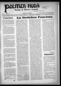 Politica nuda : periodico di polemica nazionale (1925:A. 1, ott., 1, fasc. 19)