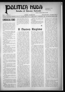 Politica nuda : periodico di polemica nazionale (1925:A. 1, nov., 1, fasc. 21)
