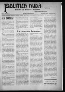Politica nuda : periodico di polemica nazionale (1925:A. 1, nov., 15, fasc. 22)