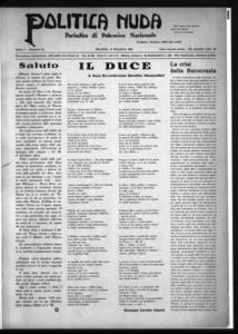 Politica nuda : periodico di polemica nazionale (1925:A. 1, dic., 15, fasc. 24)