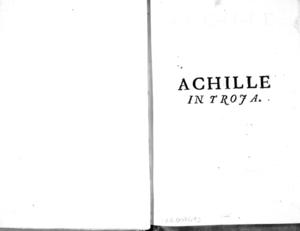Achille in Troja tragedia