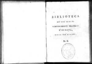 6.[1]: Andromaca tragedia di Giovanni Racine. Traduzione del balì Gregorio Redi