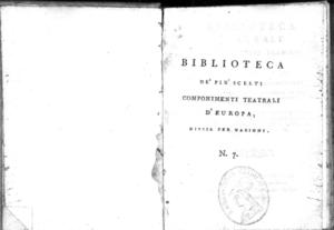 7.[1]: Amadi tragedia per musica di Filippo Quinault. Traduzione dell'abate Gaetano Sertor