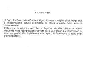 15.[1]: Cinna ossia La clemenza d'Augusto tragedia di Pietro Cornelio. Traduzione del conte Federigo Casali
