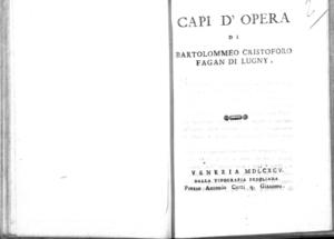 23.\[2]: Capi d'opera di Bartolommeo Cristoforo Fagan di Lugny