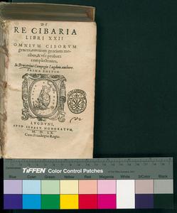 De re cibaria libri 22. omnium ciborum genera, omnium gentium moribus, & vsu probata complectens, Io. Bruyerino Campegio Lugdun. authore