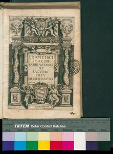 Francisci Scacchi Fabrianensis De salubri potu dissertatio