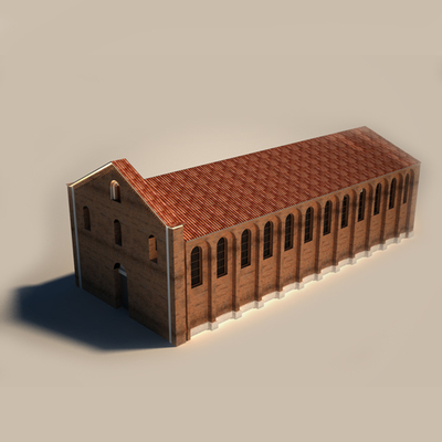 Church of San Giovanni in Conca - Historical Phase 01 - 3D