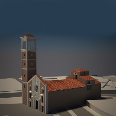 Church of San Giovanni in Conca - Historical Phase 03 - 3D