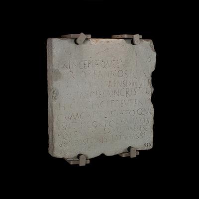Inscription of Princepia and Deuteria Archaeological Artifact Seletti - 273 - Image