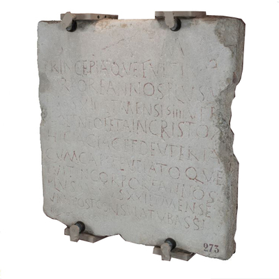 Inscription of Princepia and Deuteria Archaeological Artifact Seletti - 273 - 3D