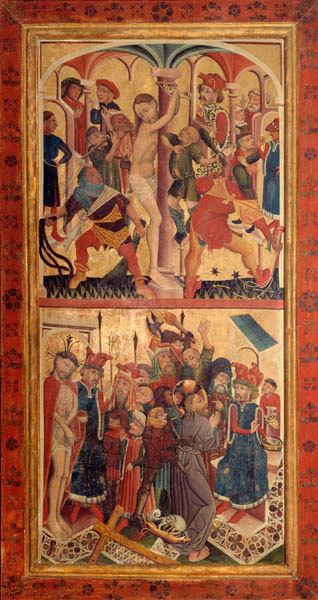 VS.: Geißelung Christi, Verspottung Christi und Handwaschung des Pilatus, RS.: Einzug nach Jerusalem, Abendmahl