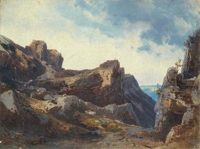 Die Walküre, 2. Aufzug: Wildes Felsengebirge (Entwurf für die Ring-Aufführung in Bayreuth 1896)