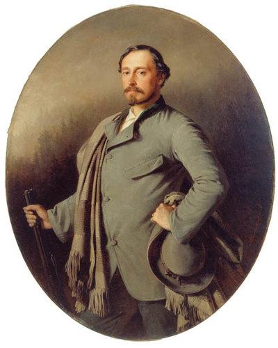 Ernst II. von Sachsen-Coburg-Gotha in Jägertracht (1818 - 1893; Herzog 1844 - 1893)