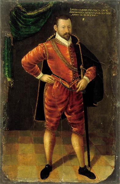 Herzog Johann Casimir im Alter von 33 Jahren (1564 - 1633; Herzog 1586 - 1633)