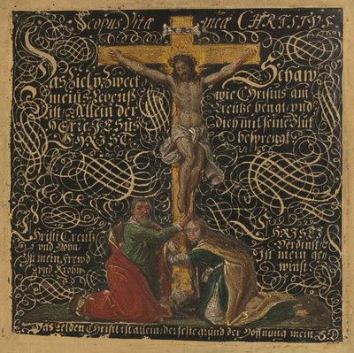Christus am Kreuz mit Maria und Johannes (Kreuzigung)